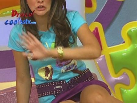 Marijo de Disney Club Descuidos en Minifalda Morada Enseñando ...