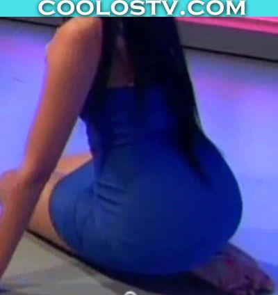 Alexandra Rodriguez Mega Culo Minivestido Azul