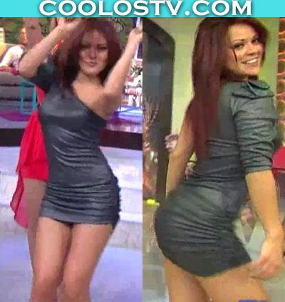 Cindy Ballet Venga La Alegria Minivestido de Latex