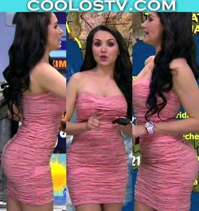 Mayte Carranco Culo en Minivestido Rosa