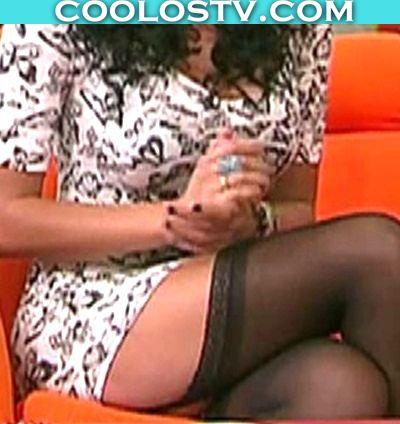 Shanik Aspe Adianez Ivette Hernandez en Liguero y Minifalda