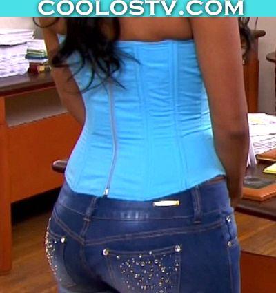 Africa Zavala Culote en Jeans y Corset