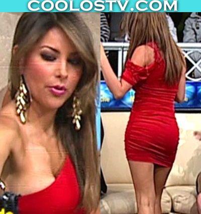 Gaby.Ramirez.Minifalda.Roja.Pezones.Modelando.Culo_001