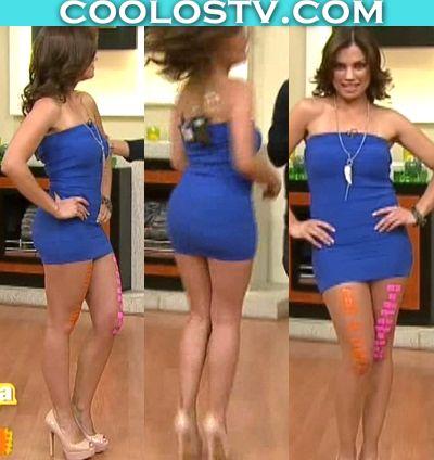 Tabata Jalil Culote en Microvestido Azul de Spandex | Coolostv.com