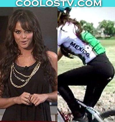 Marisol Gonzalez en Minivestido y Lycras Ciclista