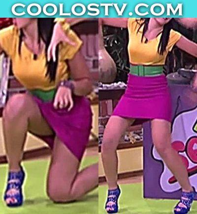 Amanda-Rosa-Upskirt-Culo-Minifalda-Rosa-Bailes3