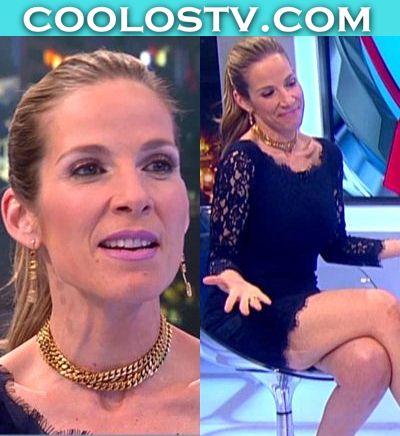 Carolina-Rocha-Minivestido-Negro-Encaje-Coleta