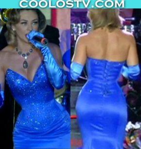 Aracely.Arambula.Culote.Vestidito.Azul