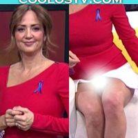 Andrea Legarreta Descuidos en Minifalda Upskirt Hoy