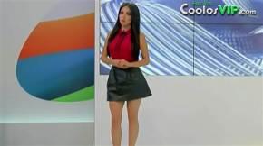 Jimena Sanchez Microfalda Negra Cuero.0002