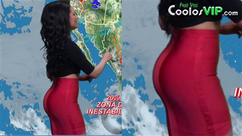 Mayte Carranco Nalgona Falda Roja Top.0003