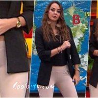 Ana Luisa Ganuza Camel Toe y Panty Marcada en Leggings Descuidos Expreso de la Mañana