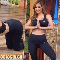 Cynthia Rodriguez Enseñando su Culote Empinada Yoga 4k [165]