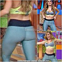 Cynthia Rodriguez Bailando en Leggings con Tanga Marcada Venga la Alegria [252]