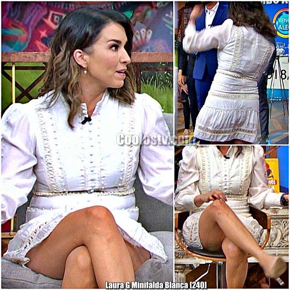 Laura G Minifalda Blanca Venga la Alegria [240]