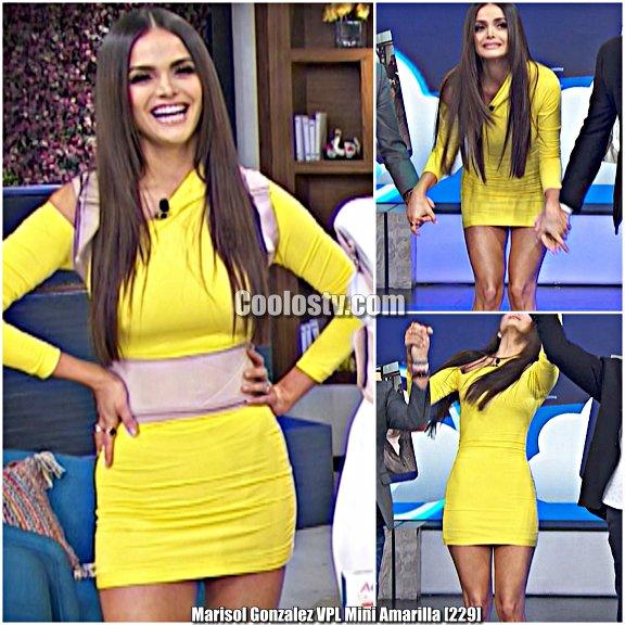Marisol Gonzalez Tanga Marcada Minivestido Spandex VPL [229]