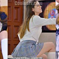 Paulina Rico Upskirt Sexy Colegiala en Microfalda [286]