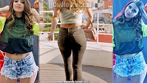 Renata Manterola Modelando Mini Short Culote en Sesion [303]