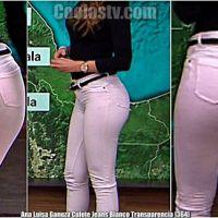 Ana Luisa Ganuza Culote Jeans Blanco Transparencia Tanga [364]