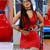 Anel Rodriguez Nalgona en Minivestido de Latex Rojo [371]