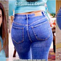 Mayrin Villanueva MEGA Culote en Jeans Ajustados [341]