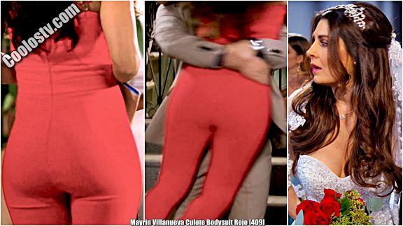 Mayrin Villanueva Culote Bodysuit Rojo [409]