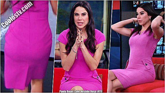 Paola Rojas Moviendo el Culo en Vestido Rosa [411]