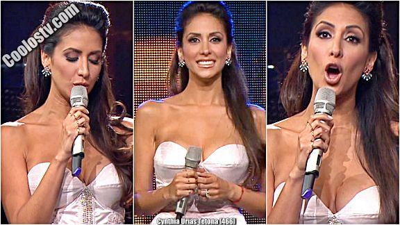 Cynthia Urias Tetotas Vestido Escotado [466]