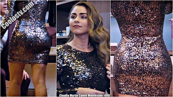 Claudia Martin Culote Minivestido Dorado [486]