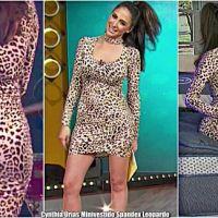 Cynthia Urias Minivestido Spandex Leopardo [Galeria]