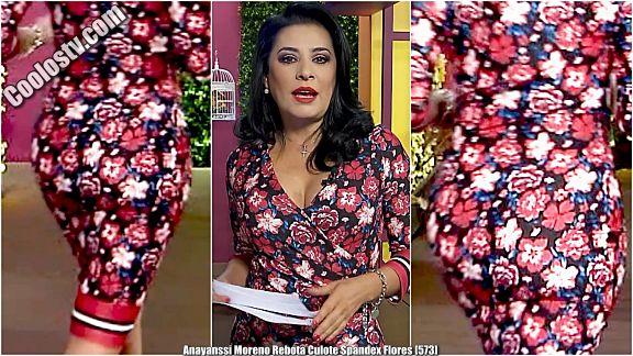 Anayanssi Moreno Nalgotas Brinconas en Spandex Floreado [573]