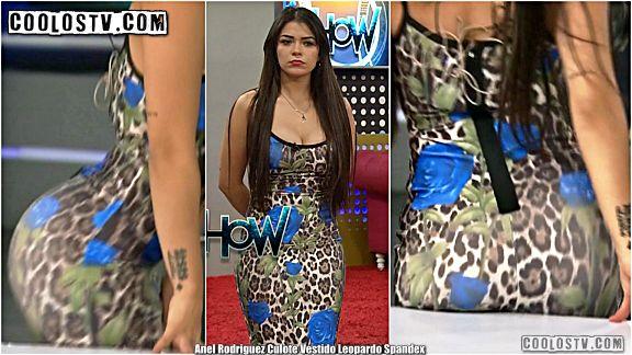 Anel Rodriguez Culote Vestido Leopardo Spandex