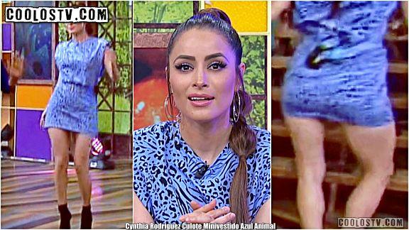 Cynthia Rodriguez Moviendo Culote en Minivestido Azul