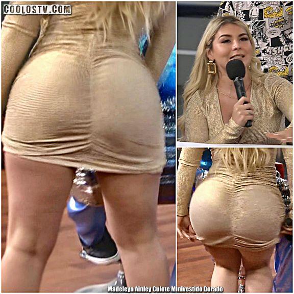 Madeleyn Ainley Culote MInivestido Dorado MILF