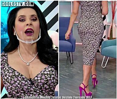 Anayanssi Moreno Tetotas y Perlas Vestido Floreado MILF