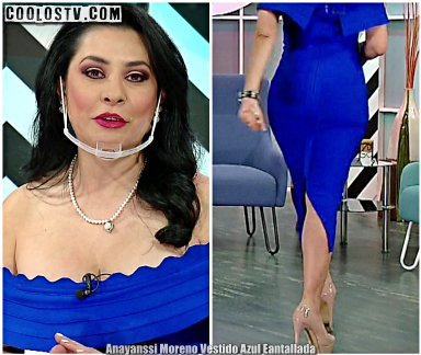 Anayanssi Moreno Culo Vestido Azul Entallada