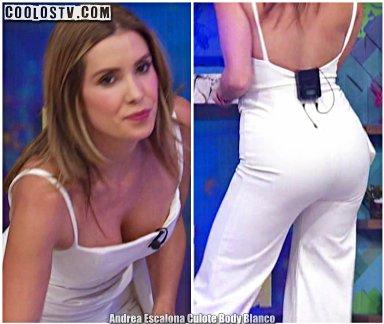 Andrea Escalona Culote en Body Blanco en Hoy