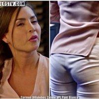 Carmen Villalobos Culote con Tanga Marcada Pantalon Blanco VPL [Video]