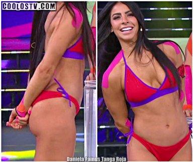 Daniela Fainus en Tanga Roja