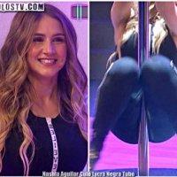 Nashla Aguilar Culo Lycra Negra Bailando en el Tubo