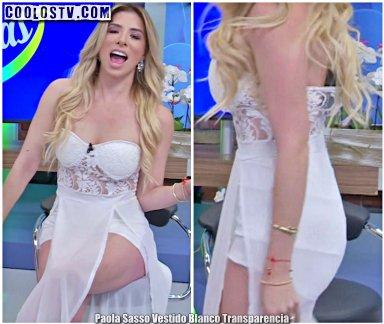 Paola Sasso Vestido Blanco Transparencia