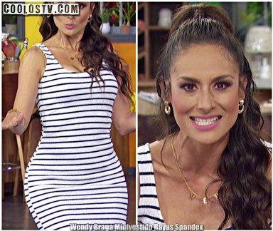 Wendy Braga Minivestido Rayas Spandex