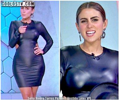 Sofia Rivera Torres Pezones Tanga Marcada Minivestido de Latex VPL [Video]